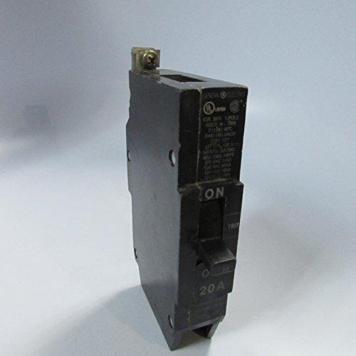 GE 1- TEY120 20 AMP, 1 Pole, 277VAC TEY Circuit Breaker 20A 1P General Electric (New TAKE-Out)