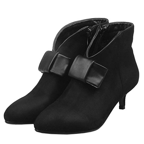 AIYOUMEI Women's Classic Boot Black PFoXJt2s1l