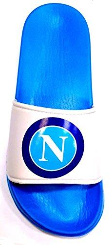 Bianco Ciabatte Uomo Mod Ssc Fascione Napoli Ufficiale S19085 Wq4wWTR0O