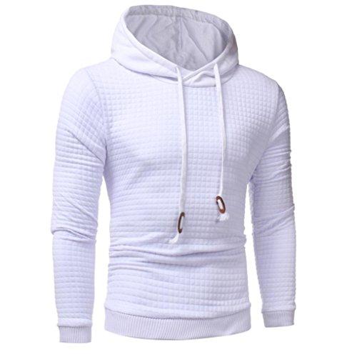 Manteau Blanc Veste Tefamore Tops Manche Sweatshirt Longue À Hommes Hoodie Capuche 8zr8yvqR