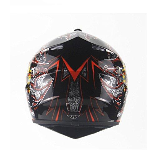 Amazon.es: DGF Helmet Light Seasons Off-road Casco de la motocicleta Hombres y mujeres Casco de bicicleta de montaña Full Face Helmet Pirate Pattern (Color ...