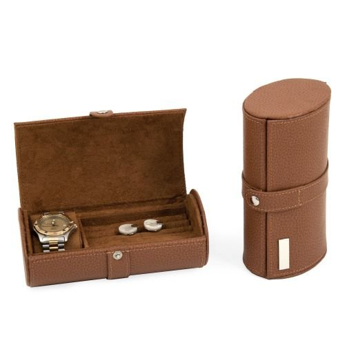 Leather Watch & Cufflink Travel Case - Leather - 7W x 2.75H in. from Bey-Berk