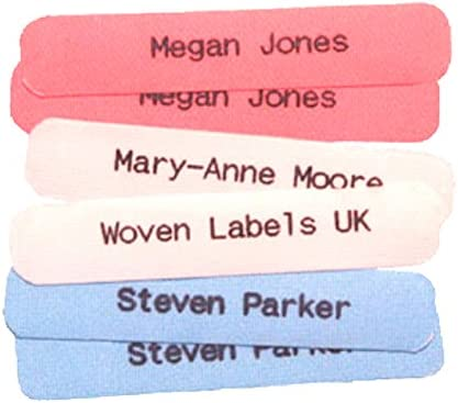 25 Peel /& Stick Labels Tapes School Tags 25 Printed Name IRON-ON