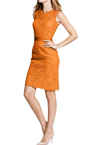 Festkleid Rundkragen Abendkleid Etui Ivydressing Spitze Orange Linie Damen XqxRxwpt7