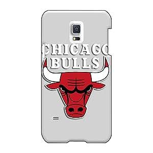 WandaDicks Samsung Galaxy S5 Mini Scratch Resistant Cell-phone Hard Cover Provide Private Custom Nice Chicago Bulls Grey Pattern [Zhn7661vQUT]
