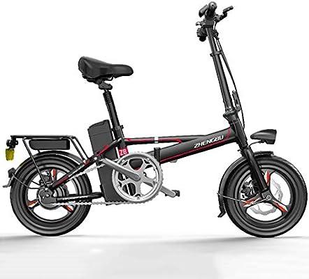 Bicicleta Eléctrica Ligera Y Plegable 400W Motor De Transmisión ...