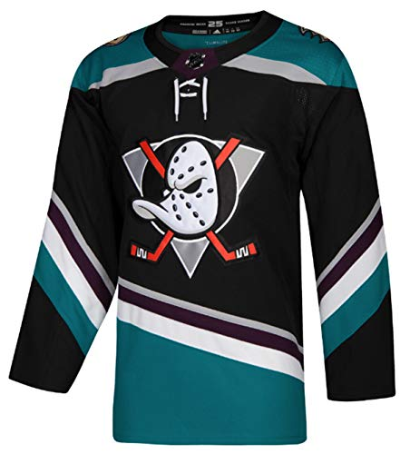 Jersey Authentic (adidas Anaheim Ducks Black/Teal Alternate Authentic Blank Jersey (60/3X))