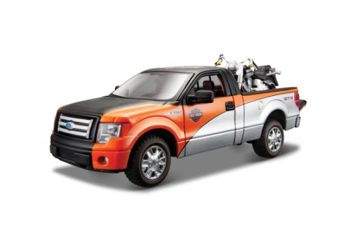Maisto 1:24 Scale Ford F-150 STX and Harley Davidson 2000 Fat Boy Diecast Vehicles (Styles May Vary)