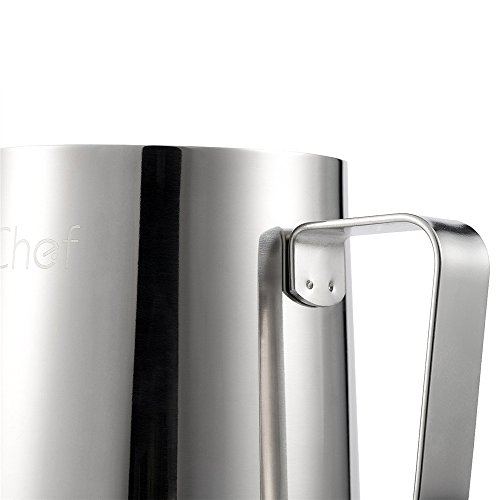 Milk Frothing Pitcher, X-Chef Stainless Steel Creamer Frothing Pitcher 20 oz (600 ml) by X-Chef (Image #4)
