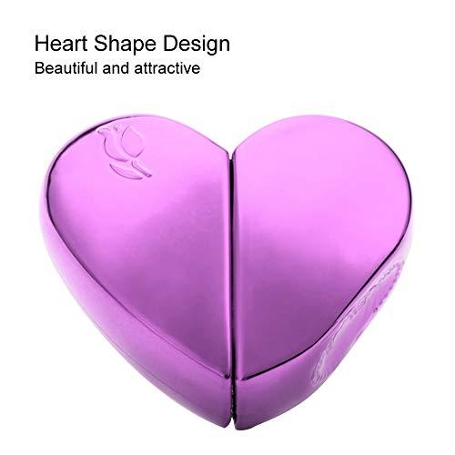 Refillable Perfume Atomizer Bottle,Travel 25ml Heart Shaped Refillable Perfume Atomizer Bottle Empty Pump Sprayer(Purple)