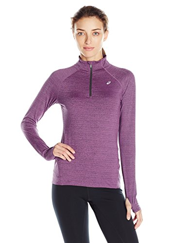 ASICS Women's Lite Show 1/2 Zip Jacket, Orchid Heather, X-Small