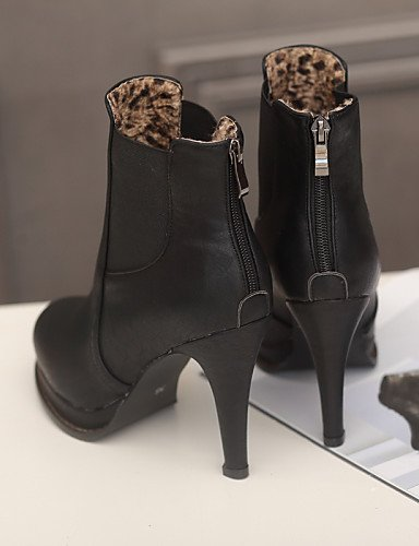 XZZ  Damenschuhe - Stiefel - Kleid - - - Kunstleder - Stöckelabsatz - Stifelette   Rundeschuh   Modische Stiefel - Schwarz   Weiß   Beige B01L1GSUIA Sport- & Outdoorschuhe Moderate Kosten b5346f