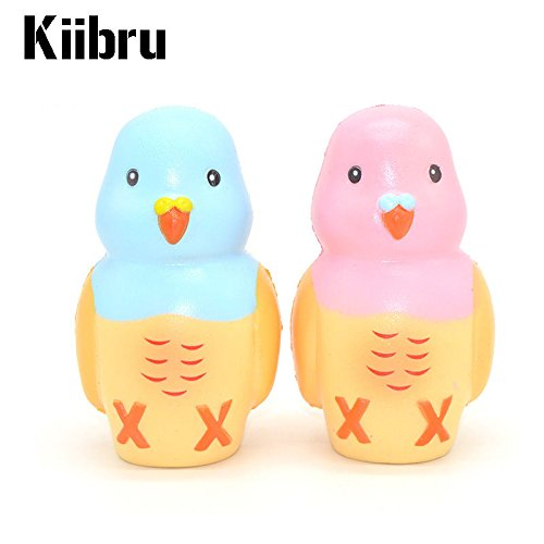 12CM Authentic Kiibru Parrot Squishy Slow Rising Toy Scented Cartoon Birds Doll (Names Of Monster High Characters)