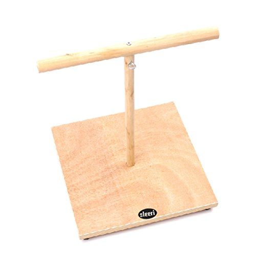 Small Parrot Bird Pet Perch Stand Parakeet Wood Standing Gym Training Grinding Toy Playstand Holder (M) by sleeri (Image #2)