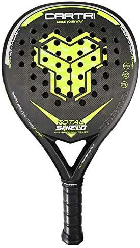 CARTRI Total Shield - Pala de Pádel, Unisex, Talla única. Color Negro, Amarillo Flúor