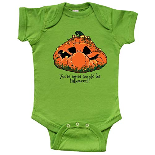 inktastic - Never Too Old for Halloween Infant Creeper Newborn Apple Green]()