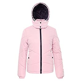 Rokka&Rolla Women's Heavy Padded Water-Resistant Hooded Thickened Quilted Puffer Jacket