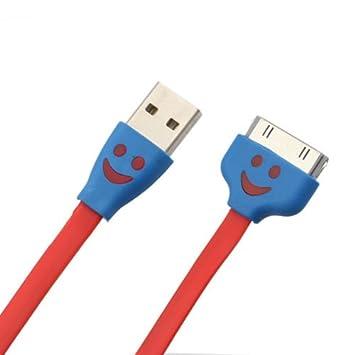 Amazon.com: Se USB Cara Sonriente Sync Cable de carga y ...
