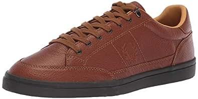 Fred Perry Men's Deuce Premium Leather Sneaker, Tan, 9.5 D UK (10.5 US) (B4318-448-9.5 D UK (10.5 US))