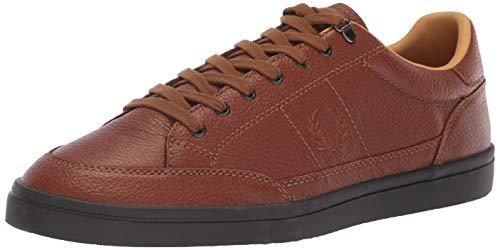 Fred Perry Men Deuce Premium Leather Sneaker Tan