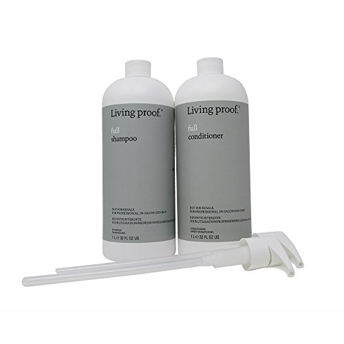 Bundle - 2 items : Living Proof Full Shampoo and Conditioner, 1 Liter Each with 2 Pumps (Proof Unit)
