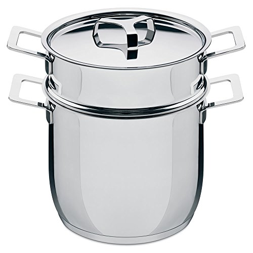Alessi AJM306SET Pasta-set in 18/10 stainless steel mirror polished, 5-Quart, 9-Ounce by Alessi