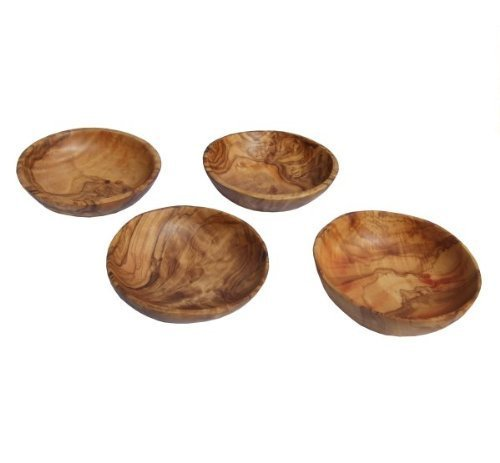Naturally Med Olive Wood Dipping Bowls, 3.5