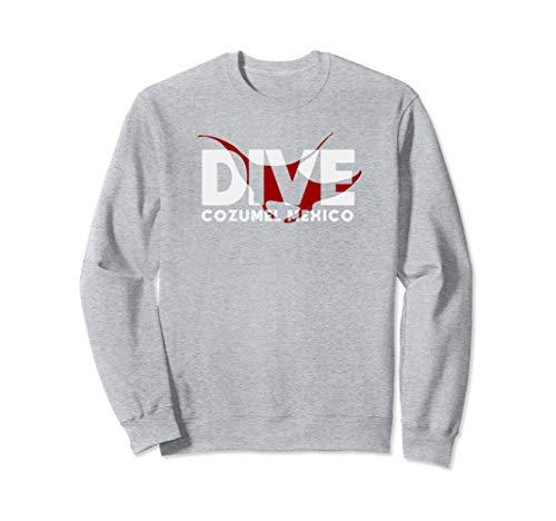 DIVE Cozumel Mexico SCUBA DIVING Diver Manta Ray Sweatshirt