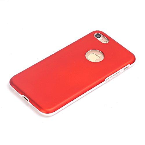 iPhone 7/iPhone 8 Fundas, TOTOOSE Premium ultra delgado Anti-Scratch cubierta trasera de protección Anti-Drop teléfono móvil Shell para iPhone 7 / iPhone 8-Rojo