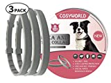 COSYWORLD 3 Pack Dogs Flea and Tick Collar - 8 Months Protection
