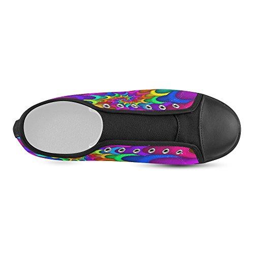 Scarpe Di Tela A Spirale Arcobaleno Psichedelico Artsadd Per Uomo (modello016) Multi Color4