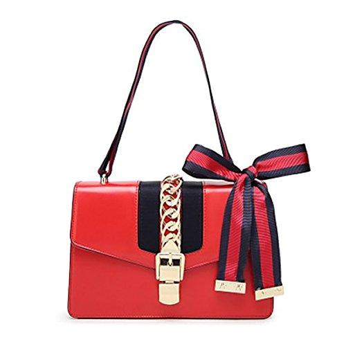 Clutch IBELLA Fashion Bridal Leather 2 Purse Red Evening Women Wedding xnqnOwZa