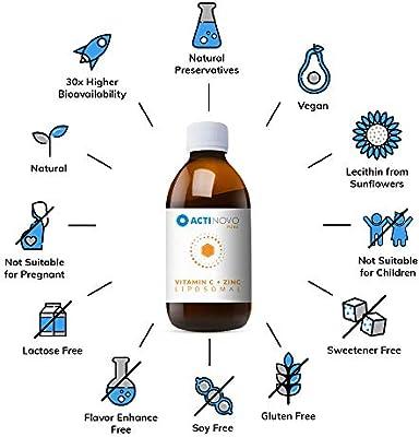 Cinc + Vitamina C Liposomal | alta concentración | para tu sistema ...