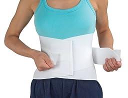 MABIS DMI Lumbar Support Brace, Lower Back Support Brace, Adjustable Lumbar Support, White