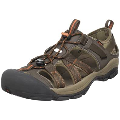 KEEN Men's Owyhee Sandal,Slate Black/Rust,9 M US