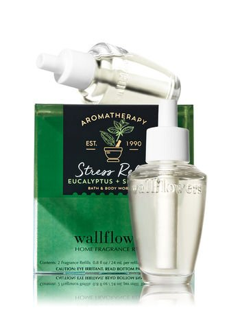 Bath and Body Works Aromatherapy Wallflowers, Refills, Eucalyptus Spearmint, 1.6 Fl Oz, 2-Pack by Bath & Body Works