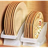 Dish Cradle. Conveniently Store Your Dishes and Plates vertical on a Shelf. Great for Sink Side Drying. Dinner Plate china holder.