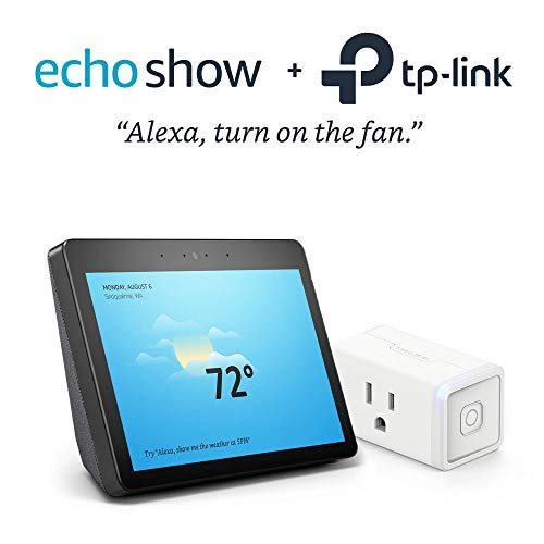 All-new Echo Show (2nd Gen) – Charcoal Fabric Bundle with Kasa Smart Wi-Fi Plug Mini by TP-Link