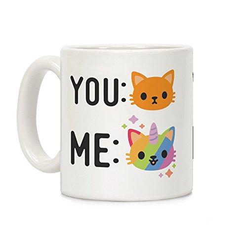 LookHUMAN You Me Caticorn White 11 Ounce Ceramic Coffee Mug]()