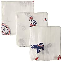 aden + anais silky soft swaddle 3 pack, diwali