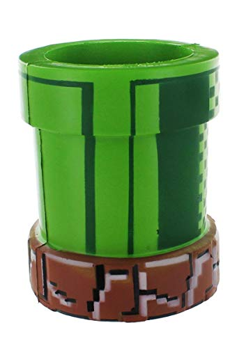 Nintendo Super Mario Bros Can Cooler | Novelty Drink and Bottle Holder Video Game and Gamer Gifts | Green Foam Warp Pipe Perfect for Parties, Outdoors, Summer, Traveling