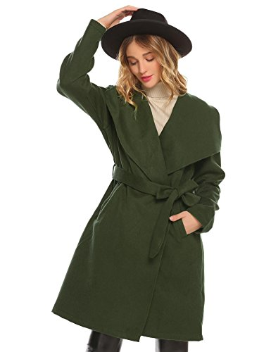 Wool Belted Military Coat - 9