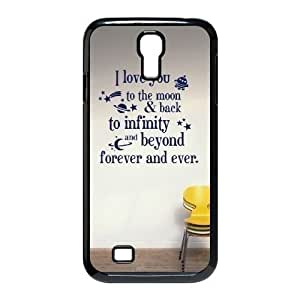 Specialdiy Custom Hard Plastic Back case cover for SamSung Galaxy S4 I9500 with Unique SSt8ewnMe0O Design I love you to the moon and back