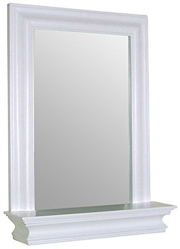 Elegant Home Fashions Stratford Collection Framed Mirror with Shelf, -