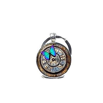 Steampunk - Llavero con reloj Steampunk, diseño de ...