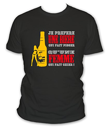 Humour Homme Bière Xxxxl Et Grande Pisser Préfère Taille Blanc Une Fait L'abricot Qui Alcool Manches S Courtes Noir shirt T Je 5xl qA8F6p