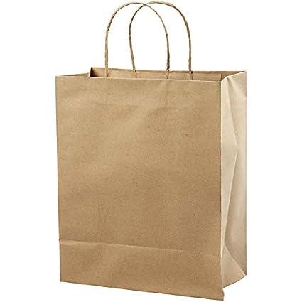 Bolsa de papel reciclado, A. 33 cm, A: 26x13 cm, 10ud ...