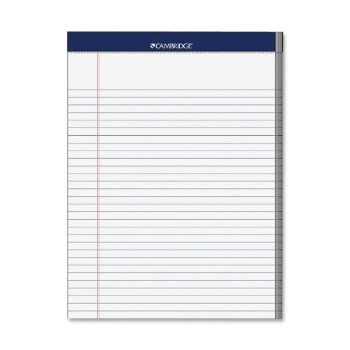 Legal Pad, Wide Rule, 70 Sheets, 8-1/2x11, White, Sold as 1 Each 8-1/2x11 ACCO (MEAD) 59872