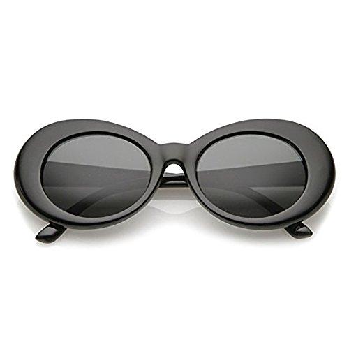 Aigemi 2018 Unisex Bold Retro Oval Classic Sunglasses Clout Goggles (Black / - Polarized Eclipse Sunglasses