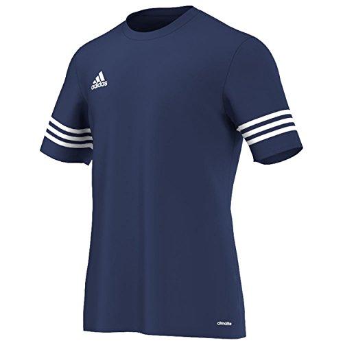 allenamento 14 uomo Adidas maniche da a da corte Camicia blu bianca Entrada f4qz5SzZ